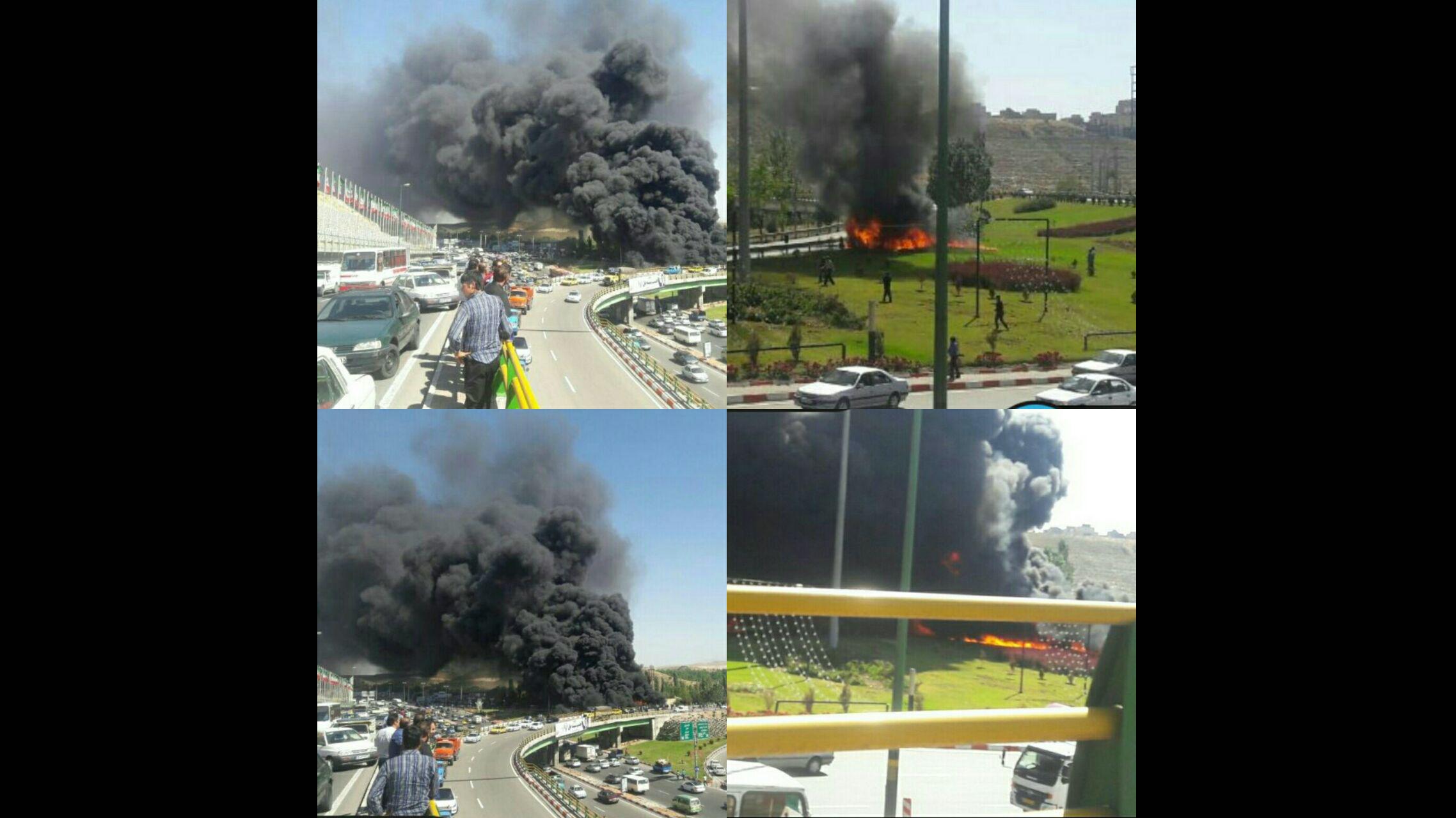 آتش سوزی تبریز