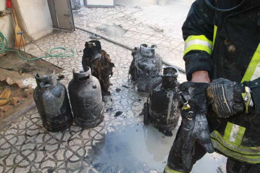 آتش سوزی خانه شیراز