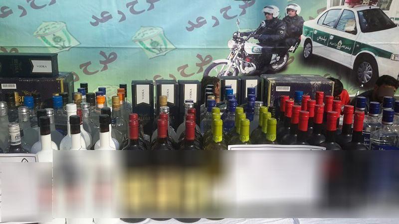 کشف ۱۰۰۰ لیتر مشروبالکلی و ۲ تخته فرش ۲۰۰ میلیونی در شمال تهران