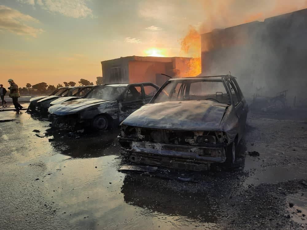 آتش سوزی در بلوار کرمان
