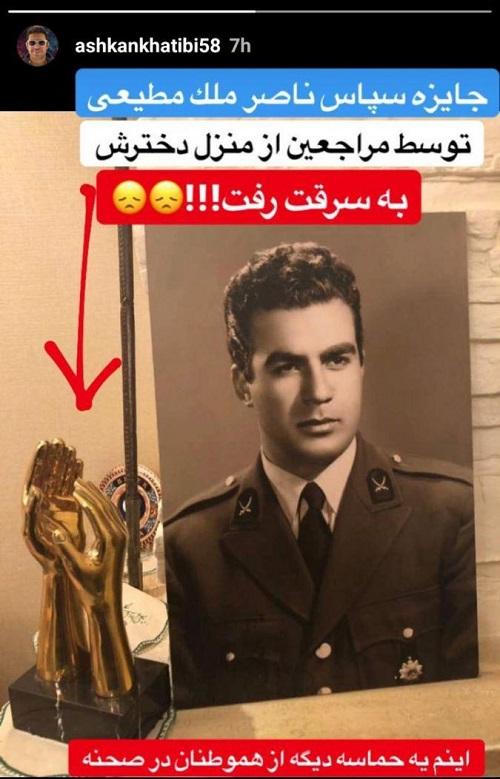 جایزه بازیگری ناصر ملکمطیعی به سرقت رفت