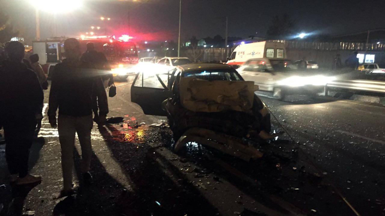 رکنا: تصادف - پژو 206 - اتوبان یاسینی - دوو
