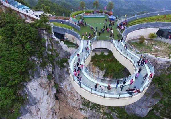 افتتاح پل گردشگری جدید در چین