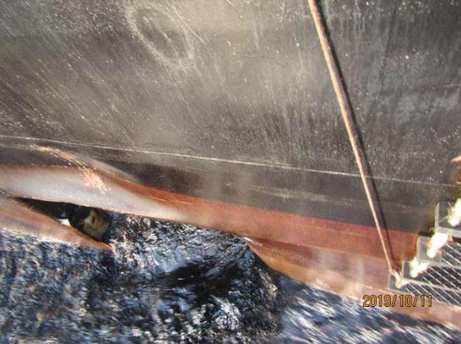 اولین تصاویر از محل اصابت موشک به نفتکش ایرانی
