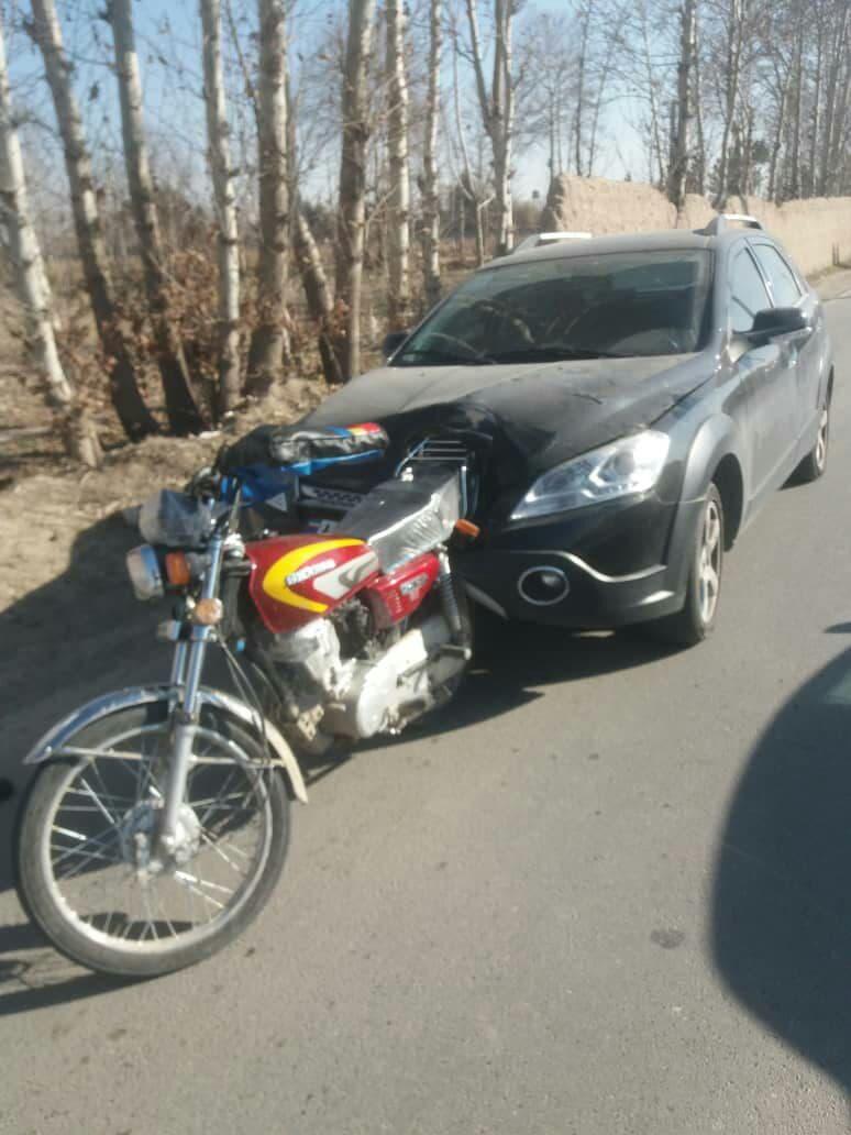 مرگ موتورسوار محمد شهر کرج
