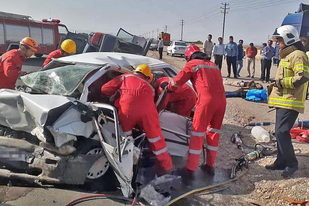 سانحه رانندگی در حومه مشهد با 8 مجروح و کشته