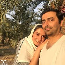 الیکا عبدالرزاقی با همسرش