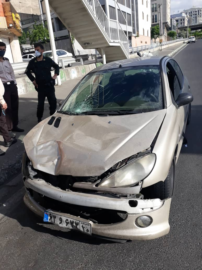 تصادف 206 در تهران