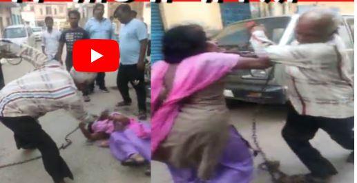 کتک زدن عروس بیوه در خیابان