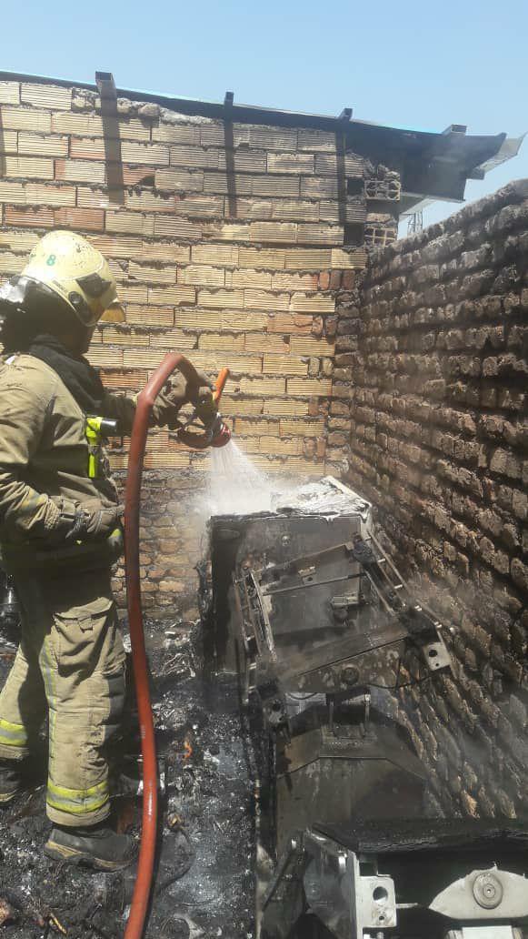 آتش گرفتن بیمارستان سینا
