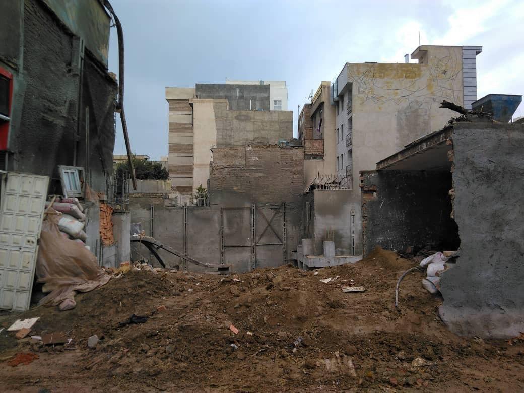 ریزش ساختمان در فلاح