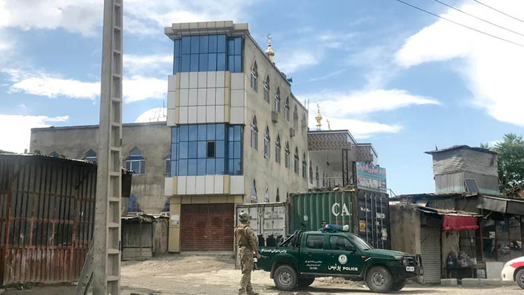 انفجار مسجد در کابل