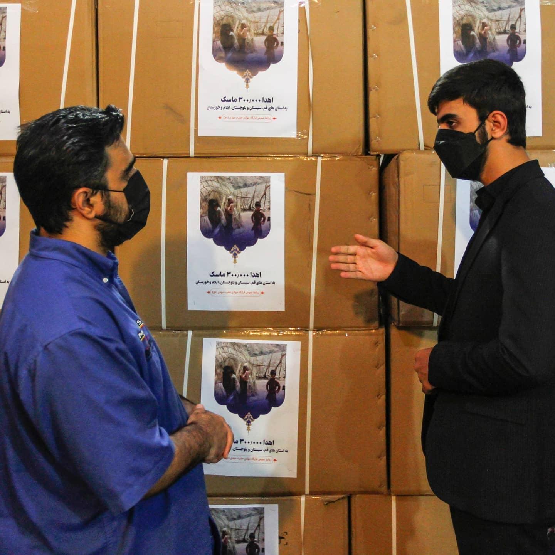 هزار ماسک به مناطق کم برخوردار کشور از سوی قرارگاه جهادی حضرت مهدی (عج) اهدا شد