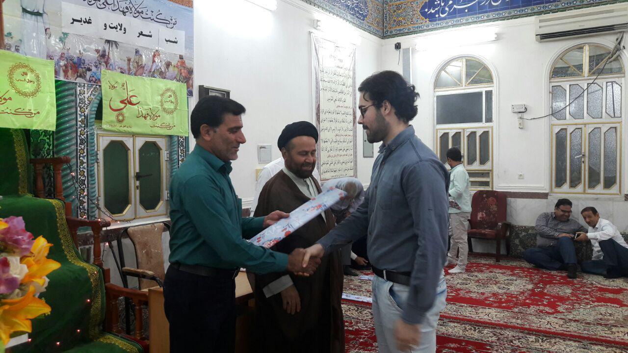 گزارش تصویری از برگزاری مراسم شب شعر غدیر درمسجد صاحب الزمان (عج)آبدان