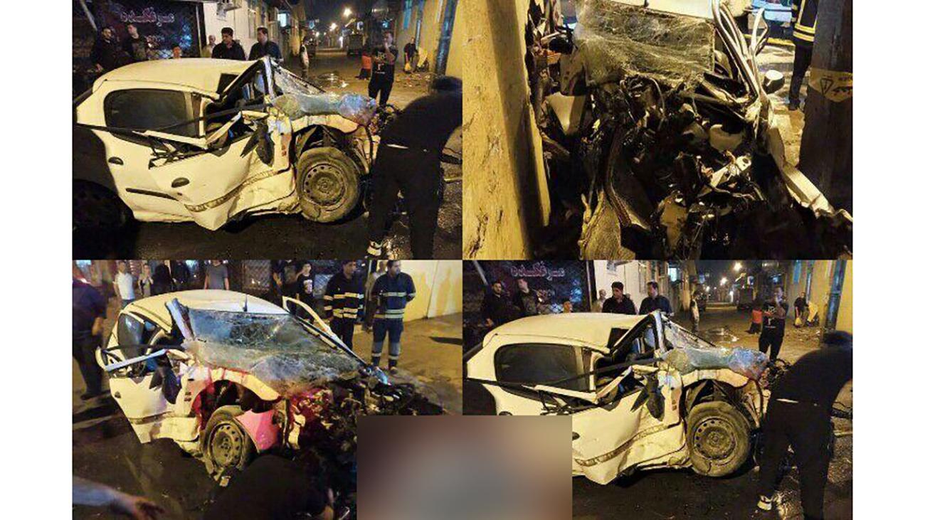 تصادف ساعت ۲/۳۴ بامداد موجب فوت راننده شد!