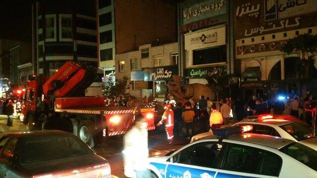 بونکر بتن آتش سوزی خانه مسکونی آیت الله کاشانی