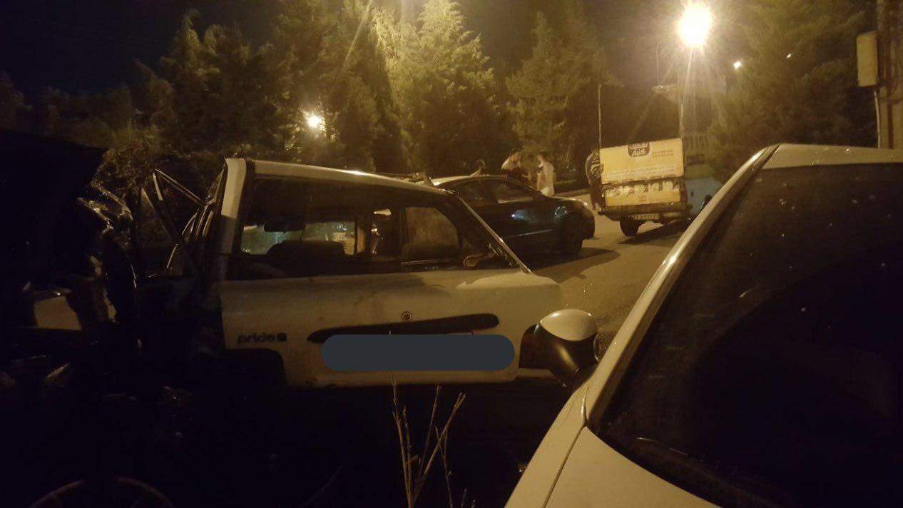 تصادف دو پورشه در اصفهان