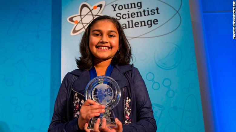 دختر 11 ساله پدیده علمی جدید امریکا و برنده جایزه 25 هزار دلاری شد