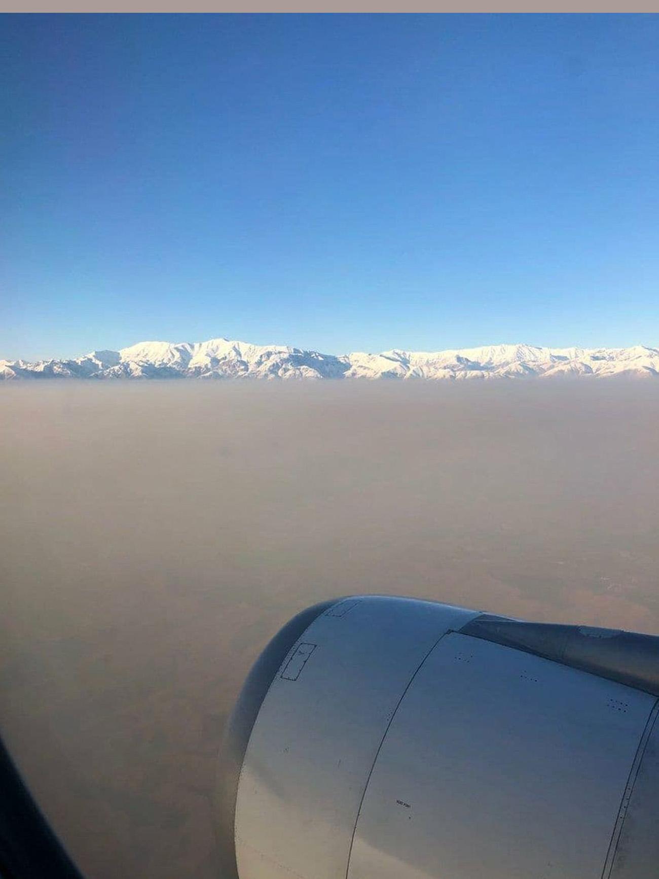 عکسی باورنکردنی از آلودگی هوا در تهران!