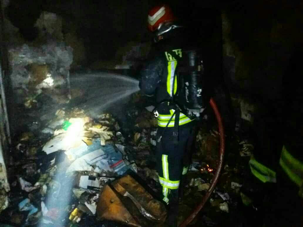 آتش سوزی خانه مسکونی در کاشان