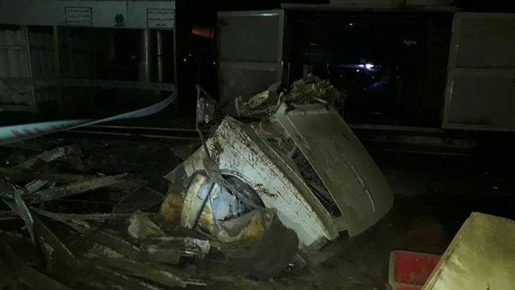 انفجار جایگاه CNG در جاده آبادان به اهواز