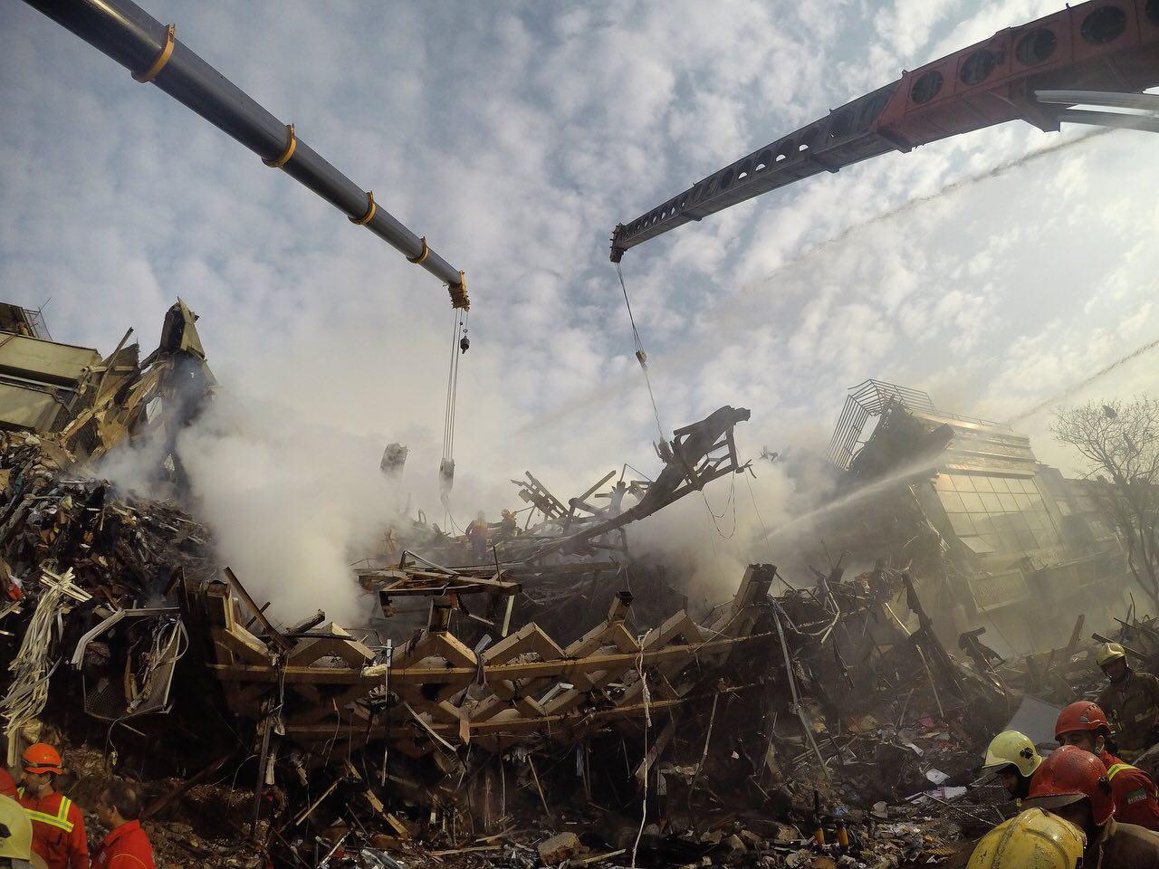گزارش تصویری از حادثه ساختمان پلاسکو