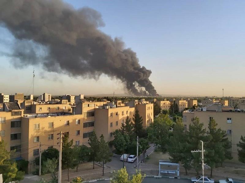آتش سوزی پالایشگاه تهران (2)