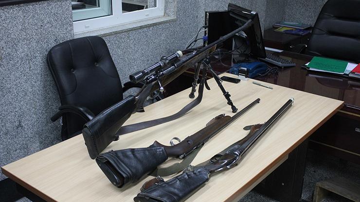 اداره دهم - اسلحه های کشف شده از متهم