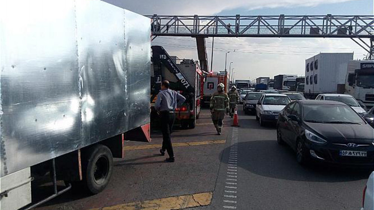 تصادف دو کامیون1
