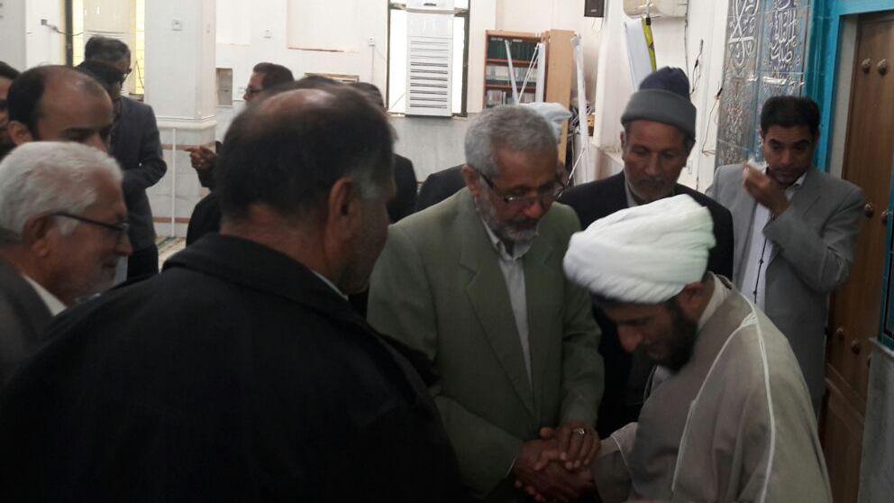 گزارش تصویری از خداحافظی حجت الاسلام محمد حمیدی نژاد امام جمعه آبدان با مردم
