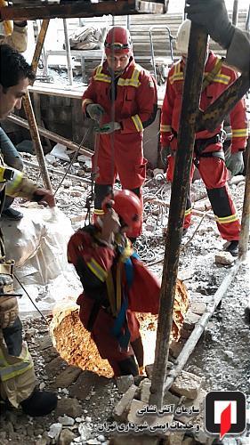 سقوط چاه کن میانسال به عمق چاه 10 متری
