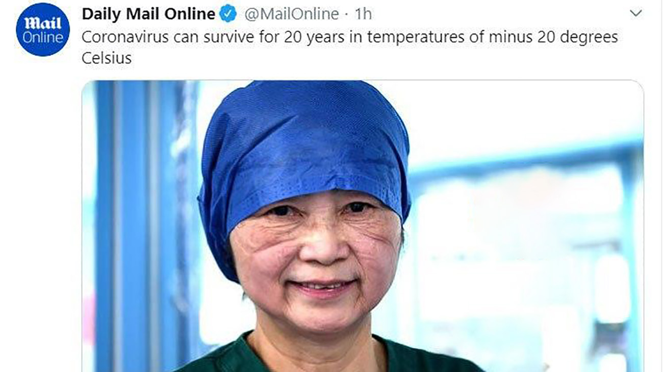 عکس ادعای پروفسور چینی برای ویروس کرونا