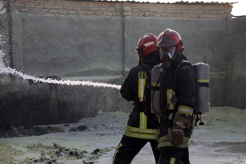 آتش سوزی در کارخانه گوگرد
