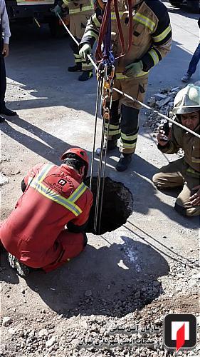 سقوط مرد جوان به اعماق چاه 10 متری