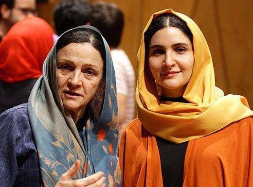 گلاب آدینه و دخترش در جشنواره فیلم فجر