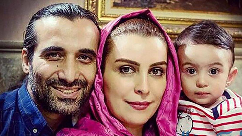 ماه چهره با همسر و پسرش