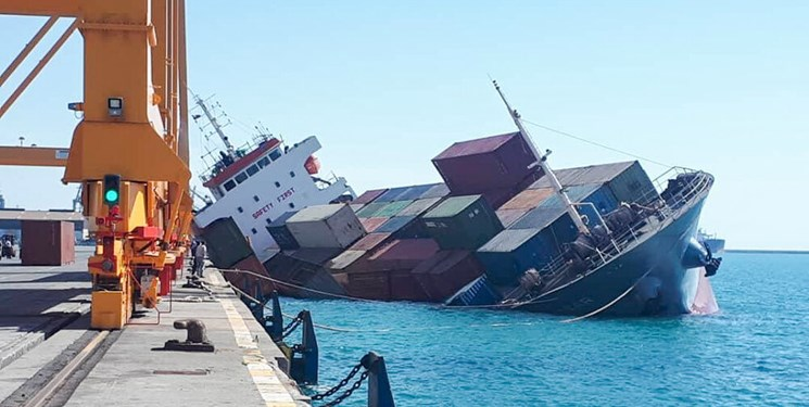 کشتی غرق شده