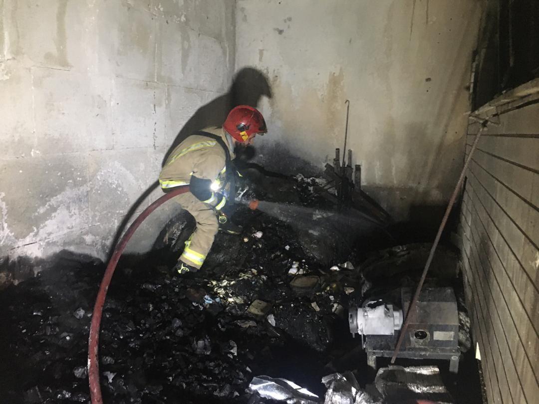 آتش سوز یدر میدان تجریش