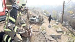 سقوط وحشتناک ماشین به دره فرحزاد + عکس های صحنه حادثه