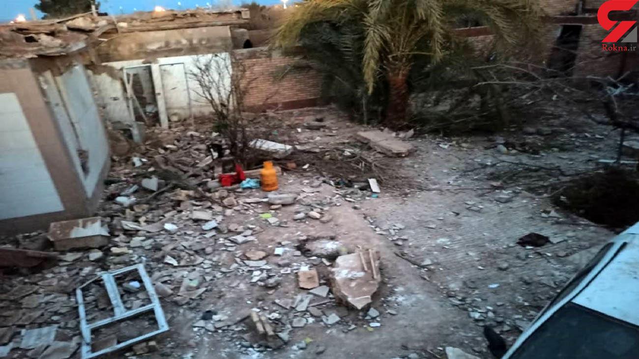 انفجار شدید در دیهوک طبس + عکس