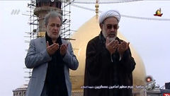 مجری معروف نماز اول وقت را در پخش زنده شبکه 3 اقامه کرد+عکس