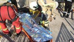 نجات معجزه آسای مردی از دل آتش خیابان امین الملک +تصاویر