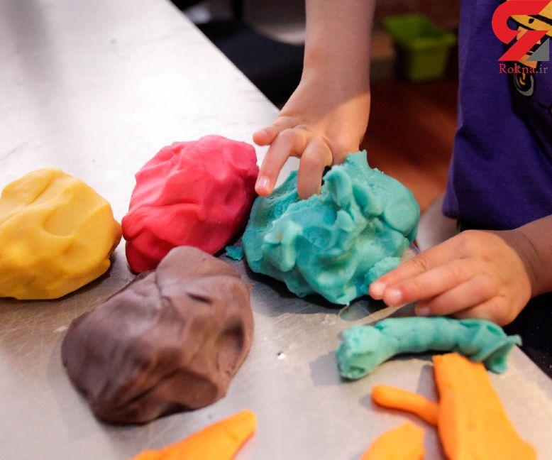 کودکان در تماس با این ماده شمیایی در خمیر بازی سلامتی شان به خطر می افتد!