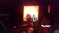 تلاش آتش نشانان برای مهار حریق گسترده