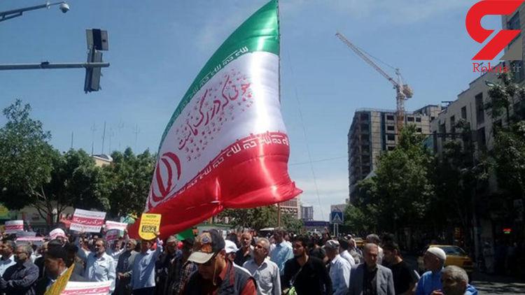 آغاز راهپیمایی نمازگزاران مشهدی+عکس