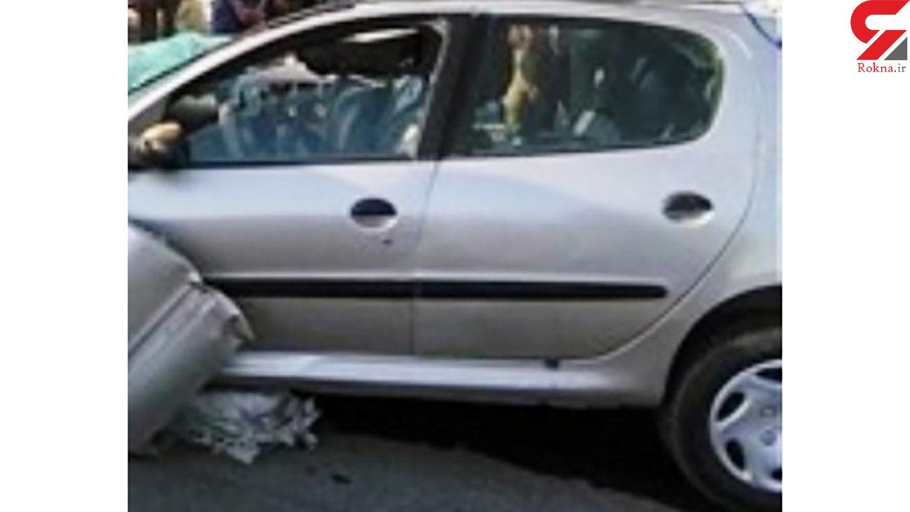 پژو 206 جان عابر پیاده را گرفت / تصادف مرگبار در جهرم