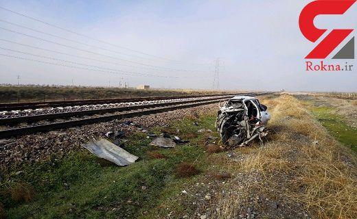 انتشار اولین عکس ها از تصادف مرگبار قطار مسافربری در قزوین