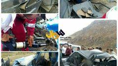 وحشتناکترین عکس ها از تصادف پراید و نیسان آبی /3 زن و 2 کودک کشته شدند!