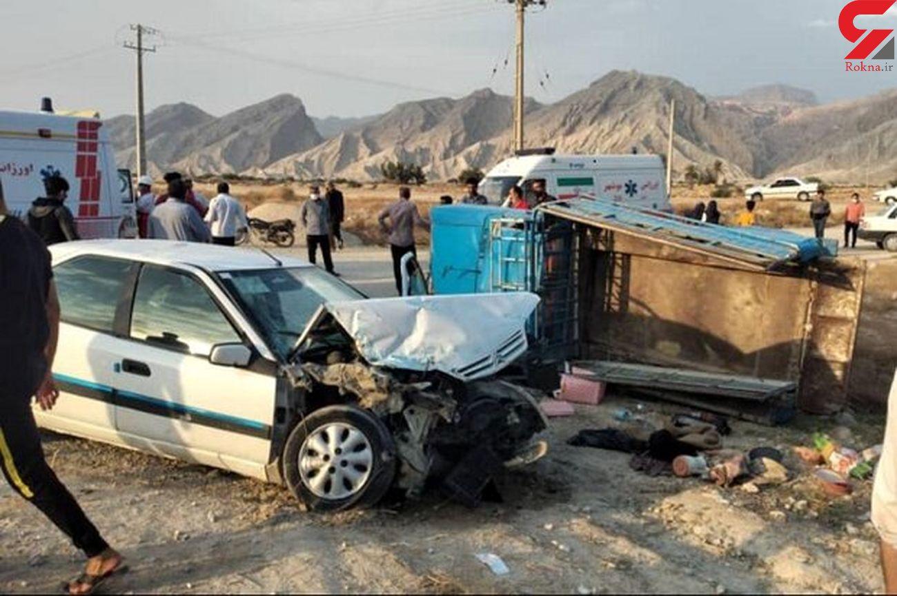 تصادف کامیون و نیسان در محور دامغان-فولاد محله/ یک نفر جان باخت