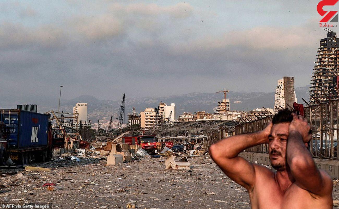 فیلم لحظه تلخ نجات یک دختر بیروتی از زیر آوار